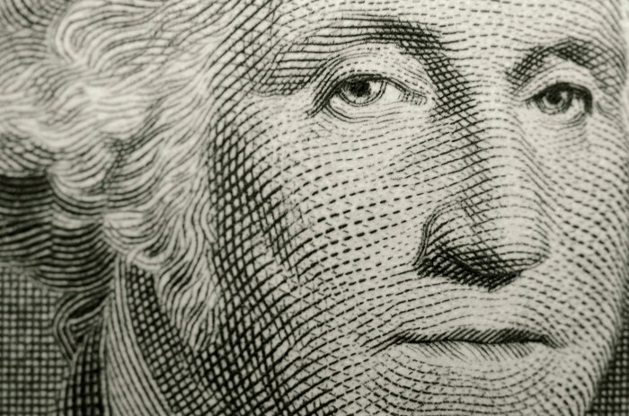 George Washington portrait from a one dollar bill