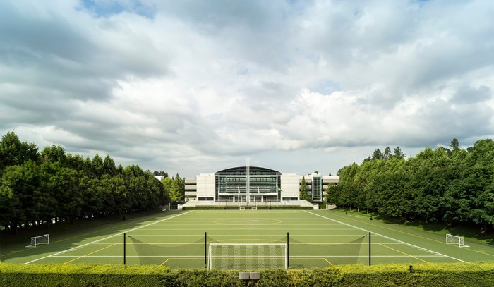 A view of the Nike Headquarters campus.