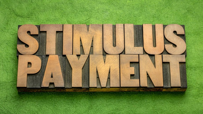An image says stimulus payment.