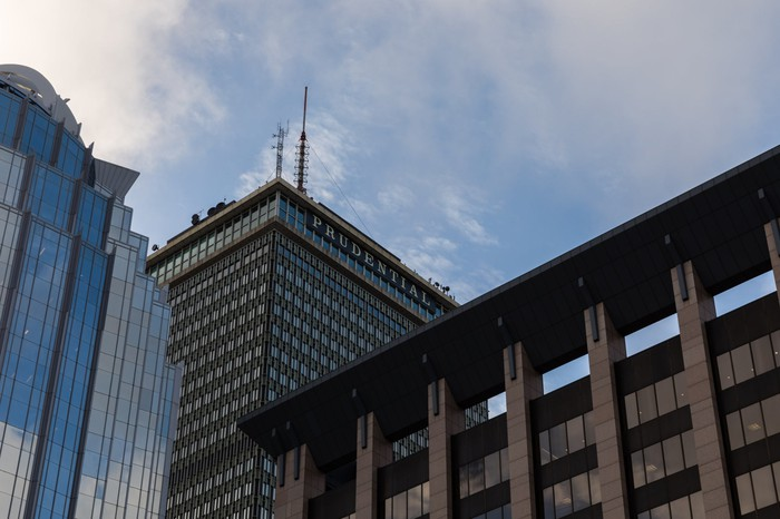 The Prudential Building in Boston rising above the skyline
