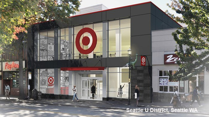 The entrance to a Target store in Seattle.