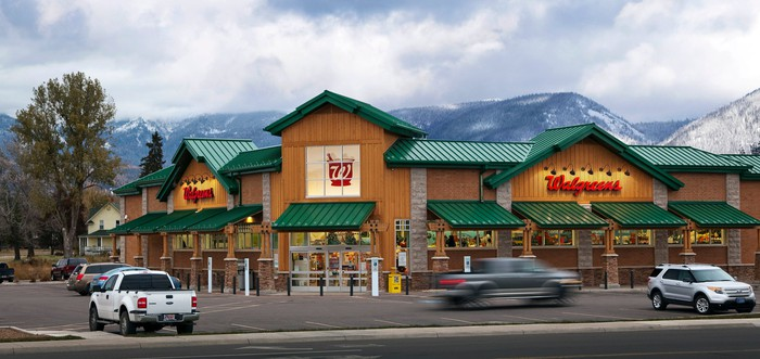 Exterior of a Walgreens in Whitefish, Montana.