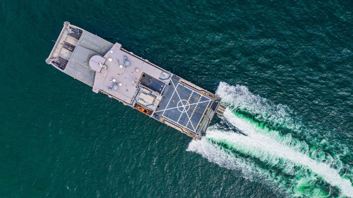 Marine amphibious landing ship.
