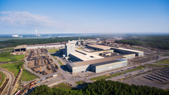 Aerial view of Nucor's Berkeley, SC facility