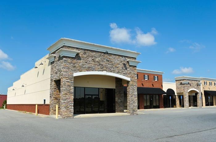 A vacant shopping center