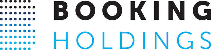 Booking Holdings logo of a stylized B in different colored dots.