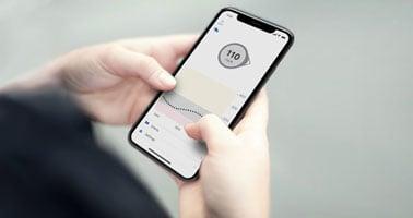 Dexcom's glucose monitoring app on smart phone