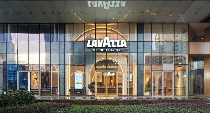The outside of the Lavazza flagship store in Shanghai.