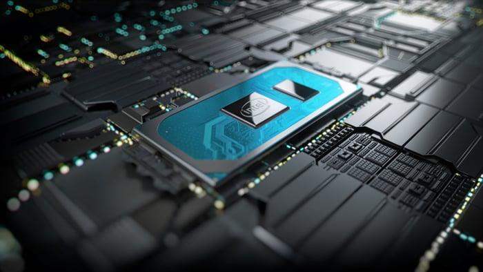 An Intel chip