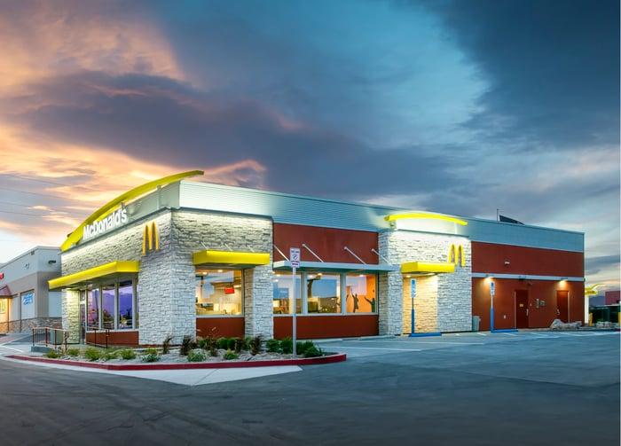 Exterior of a McDonald's restaurant in Las Vegas.