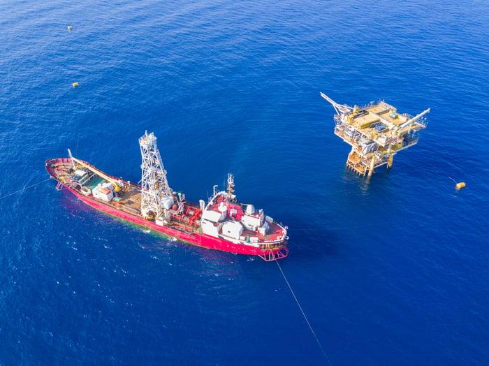 deep sea oil rig