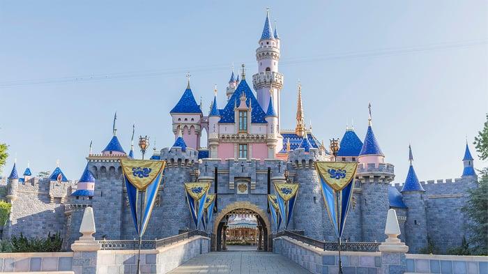 A castle at a Disney park.