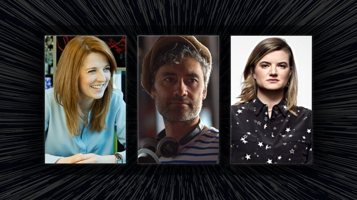 Headshots of Krysty Wilson-Cairns, Taika Waititi, and Leslye Headland.