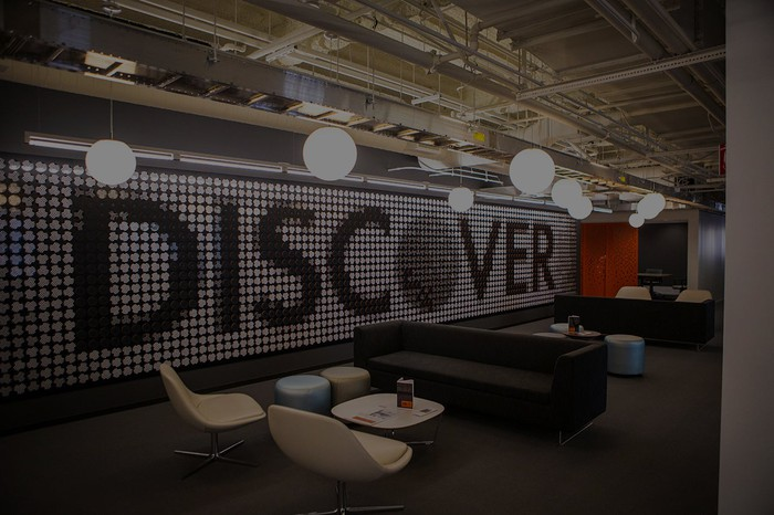 Discover office lobby.