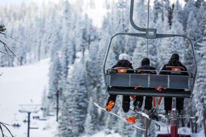 A ski lift at a Vail mountain