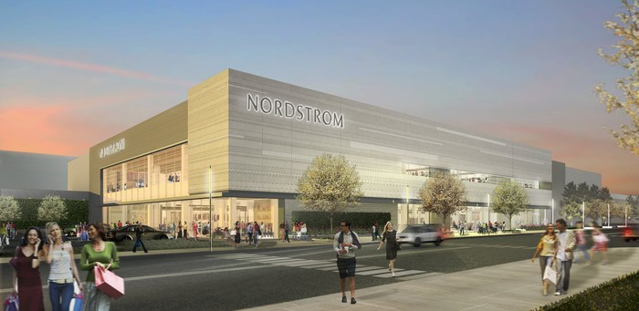 Artists rendering of a Nordstrom store