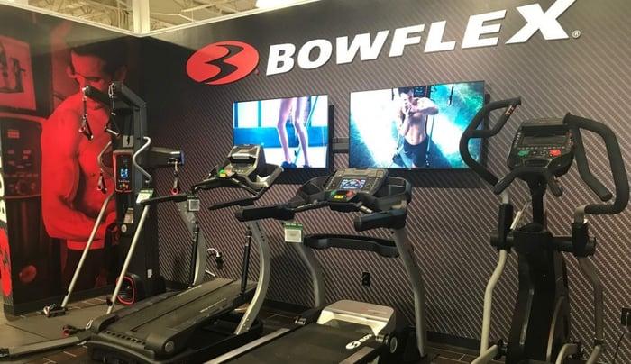 Bowflex machines on display