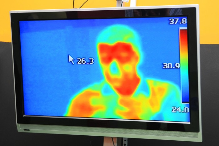 thermal image of person