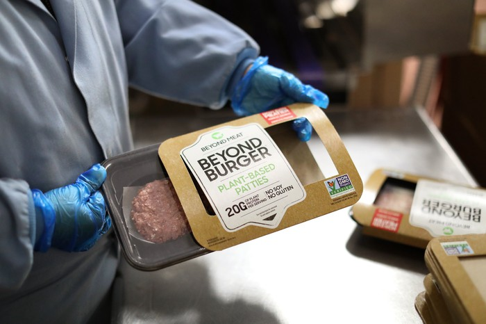 Beyond Burgers being packaged.
