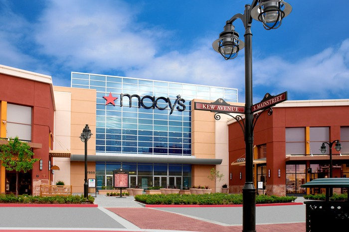 The exterior of a Macy's in California.
