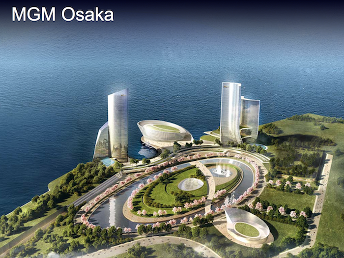 Early renderings of a project by MGM Resorts in Osaka, Japan.