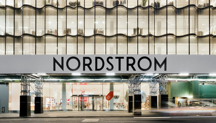 The entrance to a Nordstrom store in New York.