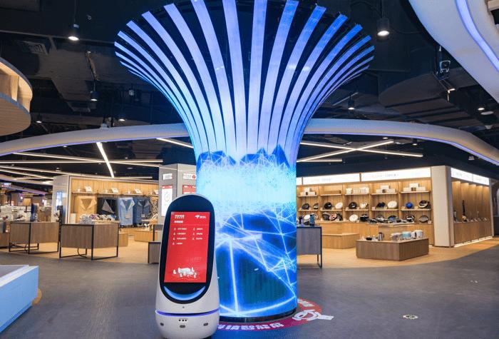 JD's E-Space retail showcase.