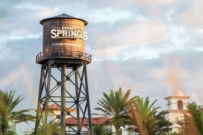 Disney Springs water tower.