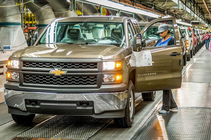 The assembly line at GM's Fort Wayne, Indiana plant.
