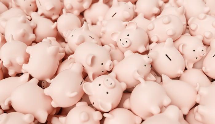 Piggy banks.