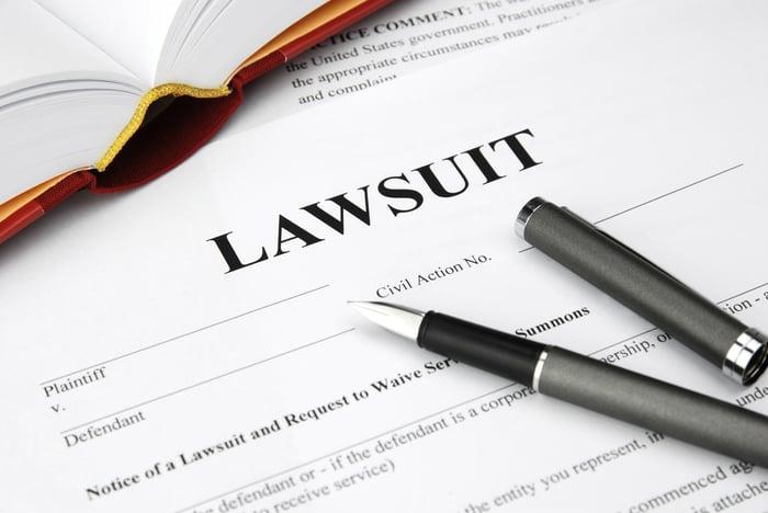 A lawsuit document.