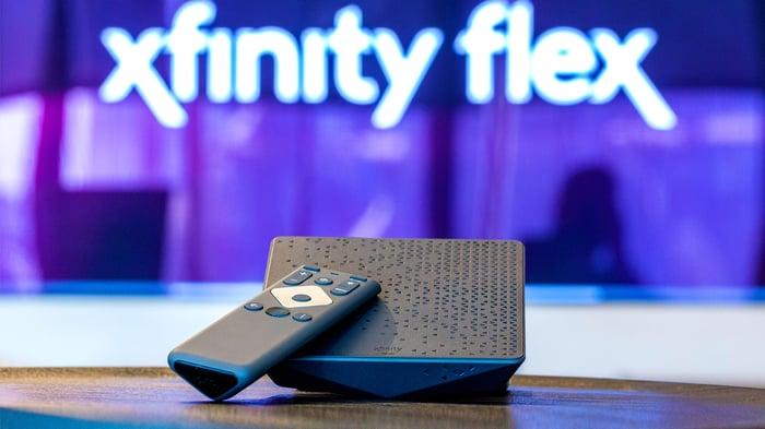 The Xfinity Flex box and remote.