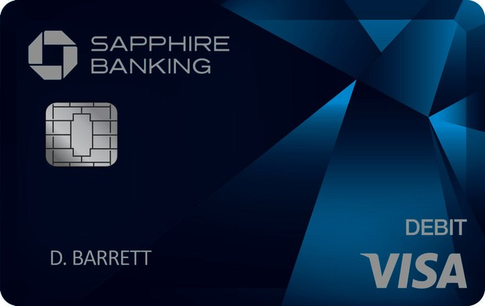 Chase Sapphire Banking card.