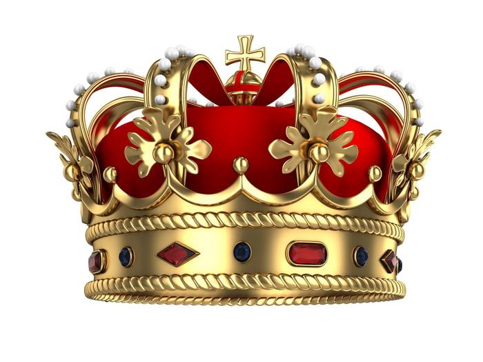 A king's royal crown