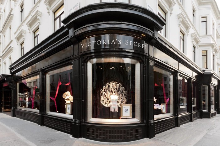 The exterior of a Victoria's Secret store on Bond Street in London