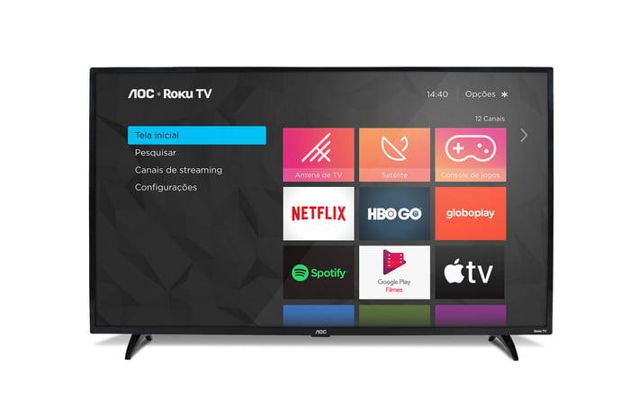 An AOC-powered ROKU TV