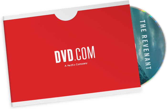 A Netflix red mailer with a disc for The Revenant poking out.