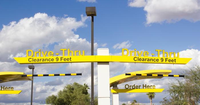 McDonald's drive-thru lanes