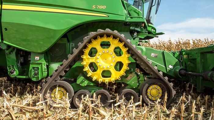A brand new combine harvester.