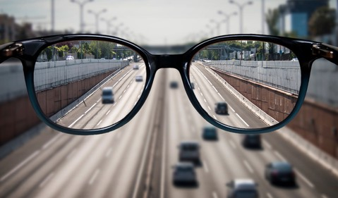 Getty Glasses Looking Down Highway