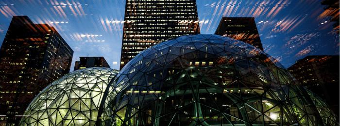 The spheres at Amazon's headquarters complex.