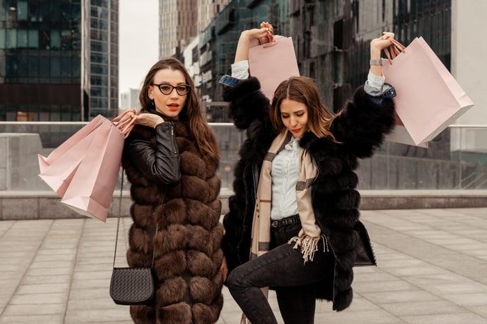 Fashion store shoppers.