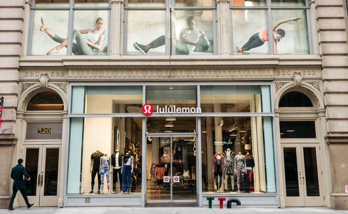 Facade of a Lululemon store in Manhattan.