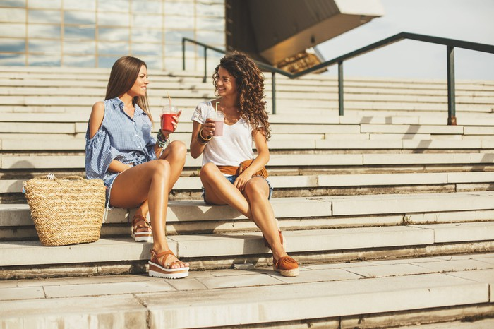 Women enjoying nice weather