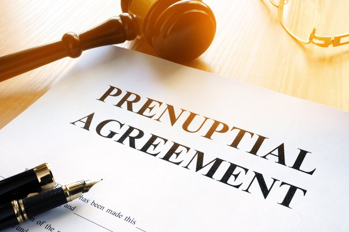 A prenuptial agreement.