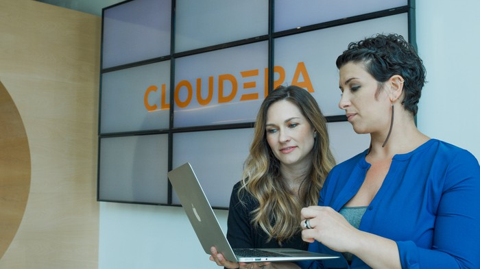 Employees at Cloudera headquarters