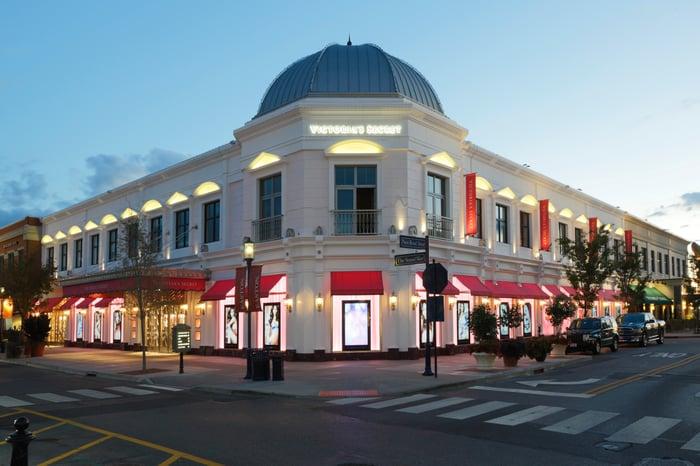 The exterior of a Victoria's Secret store.