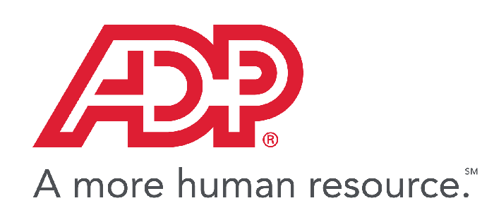 ADP logo in red, with slogan below.
