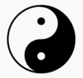 The yin-yang symbol.