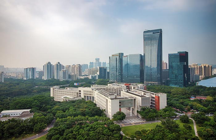 Tencent Building and Shenzhen University.